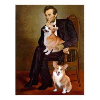 Carte Postale Lincoln - Corgis de Gallois de Pembroke (deux)