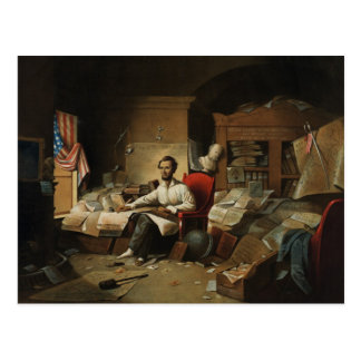 Carte Postale Lincoln et proclamation d'émancipation