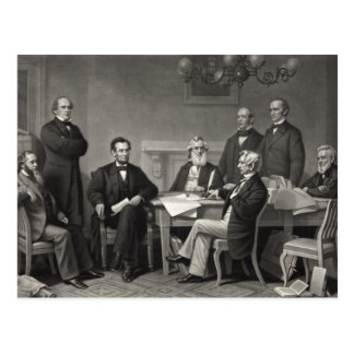 Carte Postale Lincoln lisant la proclamation d'émancipation