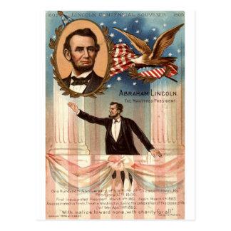 Carte Postale Lincoln Souvenir centennal, cru 1908