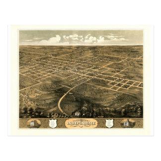 Carte Postale L'indépendance Misssouri 1868