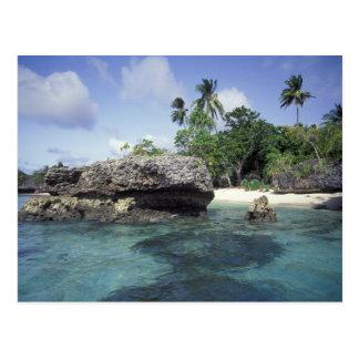 Carte Postale L'Indonésie. Formations de roche le long de rivage