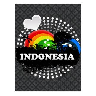 Carte Postale L'Indonésie fruitée mignonne