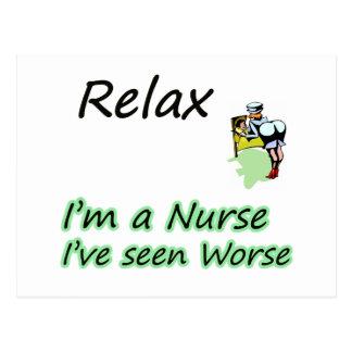 """Carte Postale L'infirmière disent que """"détendez """""""