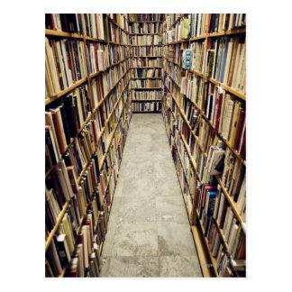 Carte Postale L'intérieur d'une librairie d'occasion Suède