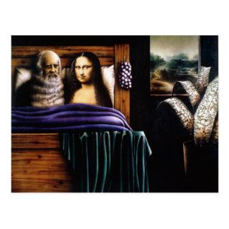 Carte Postale Lion et Mona