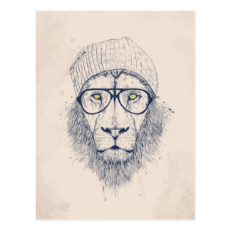 Carte Postale Lion frais