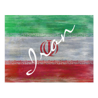 Carte Postale L'Iran a affligé le drapeau iranien