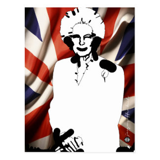 Carte Postale L'irone Lady - Margaret Thatcher