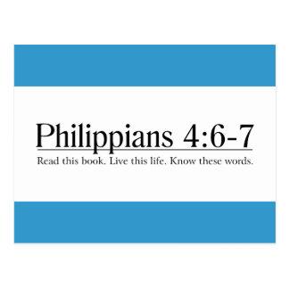 Carte Postale Lisez le 4:6 de Philippiens de bible - 7