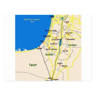 Carte Postale L'Israël map.JPG