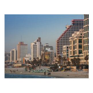 Carte Postale L'Israël, Tel Aviv, du front de mer, hôtels,
