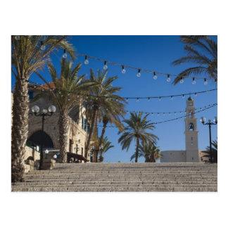 Carte Postale L'Israël, Tel Aviv, Jaffa, escaliers, vieux Jaffa