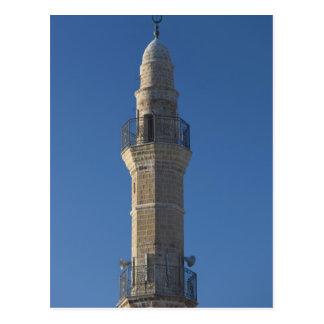 Carte Postale L'Israël, Tel Aviv, Jaffa, minaret de mosquée