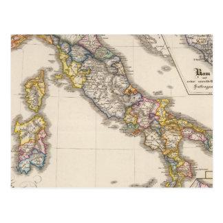 Carte Postale L'Italie à sa division ecclésiastique