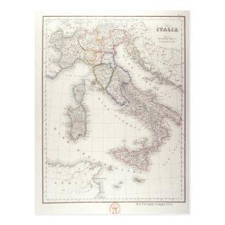 Carte Postale L'Italie avant l'unification