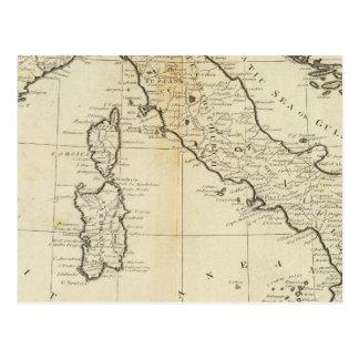 Carte Postale L'Italie et la Sardaigne