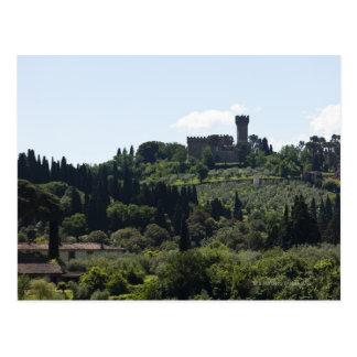 Carte Postale L'Italie, Florence, château sur le sommet