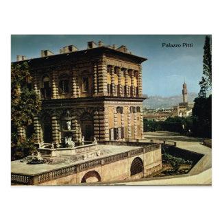 Carte Postale L'Italie, Florence, Firenze, 1908, Palazzo Pitti,