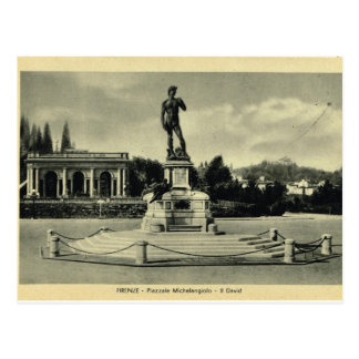Carte Postale L'Italie, Florence, Piazzale Michaël Angelo, David