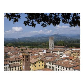 Carte Postale L'Italie, la Toscane, Lucques, la vue de la ville
