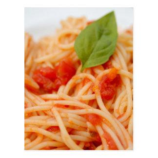 Carte Postale L'Italie, Orta, lac Orta, spaghetti avec la tomate