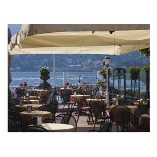Carte Postale L'Italie, province de Como, Bellagio. Café de