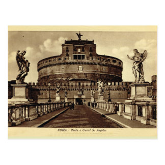 Carte Postale L'Italie, Rome, Roma, Castel Père Noël Angelo