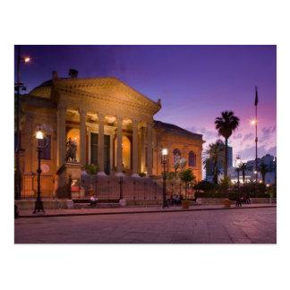 Carte Postale L'Italie, Sicile, Palerme, opéra de Teatro Massimo