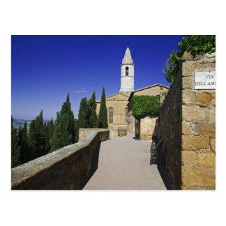 Carte Postale L'Italie, Toscane, Pienza. Une partie de par