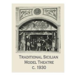 Carte Postale L'Italie vintage, Sicile, théâtre modèle