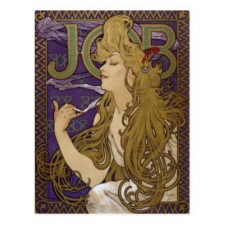 Carte Postale Lithographie de la publicité par Alphonse Mucha