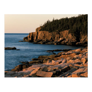 Carte Postale Littoral de parc national d'Acadia, Maine
