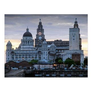 Carte Postale Liverpool Liverbuildings