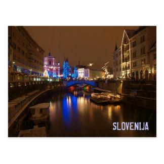 Carte Postale Ljubljana Slovénie en décembre