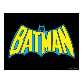 Carte Postale Logo bleu jaune vintage de Batman  
