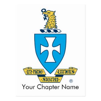 Carte Postale Logo de crête de Chi de sigma