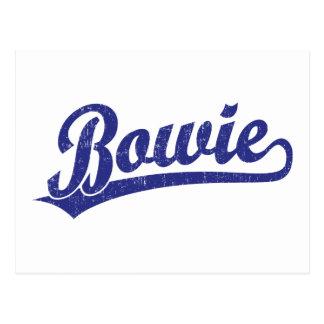 Carte Postale Logo de manuscrit de Bowie dans le bleu
