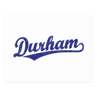 Carte Postale Logo de manuscrit de Durham dans le bleu