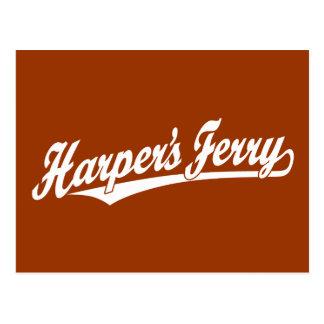Carte Postale Logo de manuscrit du ferry du harpiste dans le