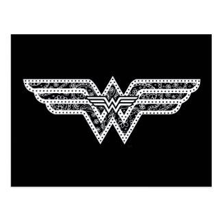 Carte Postale Logo de Paisley de femme de merveille