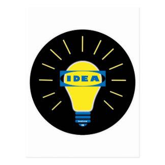 Carte Postale Logo de parodie d'idée de Brigth