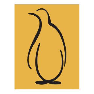Carte Postale Logo de pingouin de phi de thêta alpha