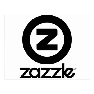 Carte Postale logo de zazzle empilé