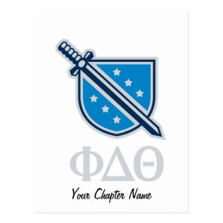 Carte Postale Logo et lettres empilés - gris