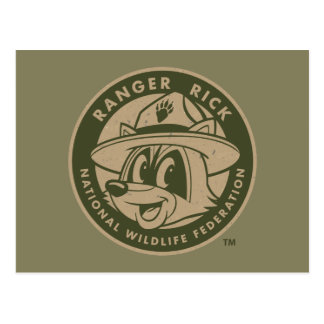 Carte Postale Logo kaki de Rick de garde forestière de Rick | de