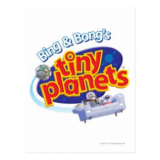 Carte Postale Logo minuscule de planètes