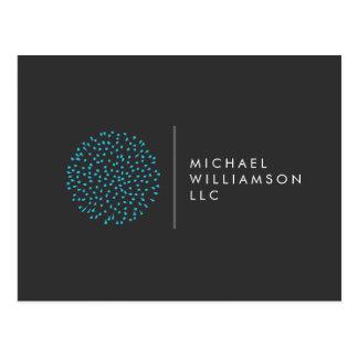 Carte Postale Logo moderne professionnel de bleu de points de