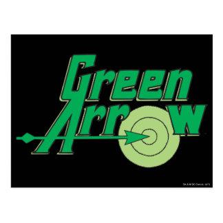 Carte Postale Logo vert de flèche