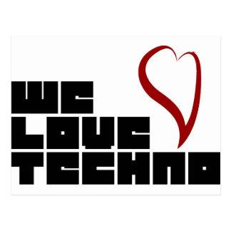 Carte Postale Logotipo--Amour-Techno